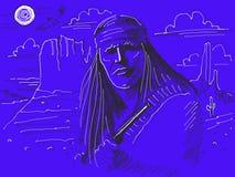 Jefe del nativo americano Imagen de archivo