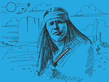 Jefe del nativo americano Imagen de archivo libre de regalías