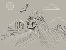 Jefe del nativo americano Fotografía de archivo libre de regalías