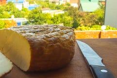 Jefe del queso tradicional del Adygei hecho a mano Foto de archivo libre de regalías