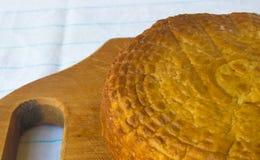 Jefe del queso tradicional del Adygei hecho a mano Imagenes de archivo