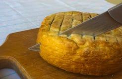 Jefe del queso tradicional del Adygei hecho a mano Fotografía de archivo libre de regalías