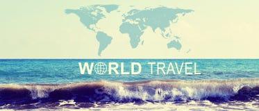 Jefe del World Travel Foto de archivo libre de regalías