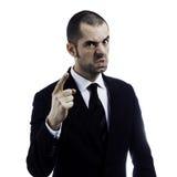 Jefe enojado Imagen de archivo libre de regalías