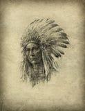 Jefe indio americano libre illustration