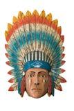 Jefe indio de madera Foto de archivo