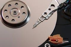 Jefe magnético del primer del disco duro Fotografía de archivo libre de regalías