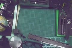 Jefe negro/del verde creativo del héroe Imagenes de archivo