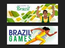 Jefe o bandera del sitio web para el concepto de los juegos Fotos de archivo