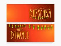 Jefe o bandera del web para Dussehra y Diwali