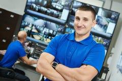 Jefe video de la vigilancia de la seguridad Foto de archivo libre de regalías