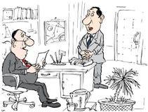 Jefe y secretaria stock de ilustración