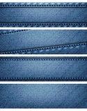 Jefes azules de la textura del dril de algodón Fotografía de archivo