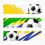 Jefes del fútbol fijados ilustración del vector