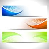 Jefes del web, sistema de banderas ilustración del vector