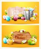 Jefes horizontales de Pascua stock de ilustración