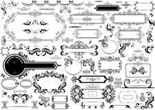 Jefes y marcos del vintage stock de ilustración