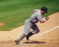 Jeff Bagwell running to first base. Royalty Free Stock Image