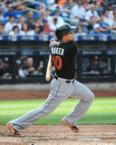 Jeff Baker. Miami Marlins batter Jeff Baker, #10 Royalty Free Stock Photo