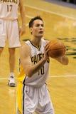 Jeff bevordert Indiana Vrije Pacers werpt 12/20/2010 Stock Foto's