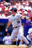 Jeff Conine. Florida Marlins slugger Jeff Conine.  Image taken from a color slide Royalty Free Stock Image