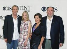 Jeff Daniels, Hope Davis, Marcia Gay Harden, en James Gandolfini Royalty-vrije Stock Fotografie