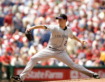 Jeff Francis. Pitcher, Colorado Rockies Royalty Free Stock Image
