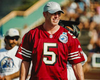 Jeff Garcia San Francisco 49ers. San Francisco QB Jeff Garcia competes in the NFL QB Challenge. (Image taken from color negative Royalty Free Stock Image