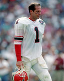 Jeff George. Atlanta Falcons QB Jeff George, #1. (image taken from b&w negative Stock Image