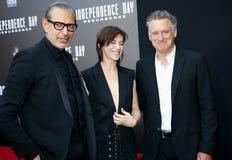 Jeff Goldblum, Charlotte Gainsbourg y Bill Pullman Imagen de archivo libre de regalías