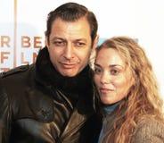 Jeff Goldblum ed Elizabeth Berkley Fotografie Stock Libere da Diritti