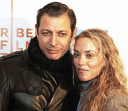 Jeff Goldblum en Elizabeth Berkley Royalty-vrije Stock Foto's