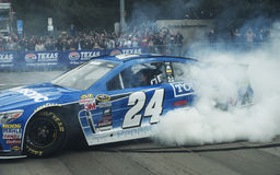 Jeff Gordon burning out in the 24 car Royalty Free Stock Photography