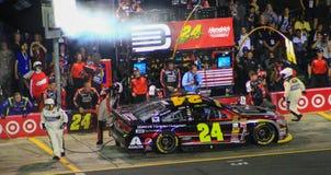 Jeff Gordon e carro #24 na estrada 10-11-14 do poço Fotografia de Stock
