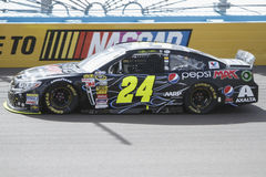 Jeff Gordon. NASCAR race car driver Jeff Gordon on racetrack Stock Photos