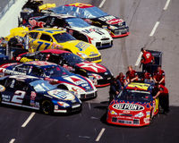 #24 Jeff Gordon Pit Stop Image stock