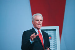 Jeff Henley makes speech at Oracle OpenWorld Royalty Free Stock Photos