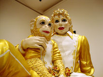 Jeff Koons - Michael Jackson and Bubbles porcelain sculptures Royalty Free Stock Photography