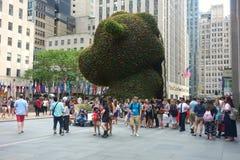 Jeff Koons på den Rockefeller mitten Royaltyfria Foton