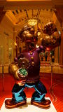 The Jeff Koons Popeye Sculpture display at the Wynn Hotel in Las Vegas Royalty Free Stock Photos