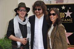 Jeff Lynne u. Dhani Harrison u. Olivia Harrison lizenzfreie stockfotografie