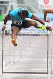 Jeff Porter - le transenne da 110 m. Fotografia Stock Libera da Diritti
