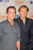 Jeff Probst, Mark Burnett stock afbeeldingen