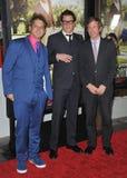 Jeff Tremaine u. Johnny Knoxville u. Spike Jonze Stockfotografie