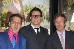 Jeff Tremaine y Johnny Knoxville y Spike Jonze Fotos de archivo
