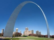 Jefferson arch in st louis Royalty Free Stock Photo
