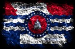 Jefferson City-de vlag van de stadsrook, de Staat van Missouri, Verenigde Staten van stock foto