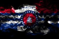 Jefferson City-de vlag van de stadsrook, de Staat van Missouri, Verenigde Staten van stock illustratie
