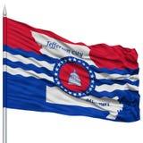 Jefferson City Flag auf Fahnenmast, USA Stockfoto