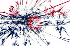 Jefferson City, Missouri fajerwerki błyska flaga Nowy Rok 2019 i przyjęcia gwiazdkowego pojęcie flaga stanów zjednoczonej ameryki ilustracji